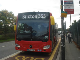 Evobus Go-Ahead London Central MBK1 on Route 355, Mitcham