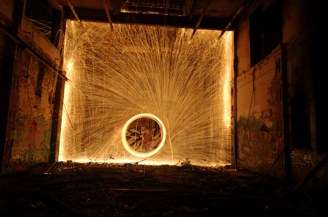 Huncoat Powerstation - Wire Wool Photography