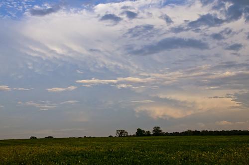 sunset clouds thunderstorm mammatus