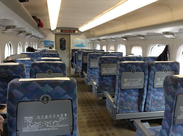 Riding the hikari Shinkansen