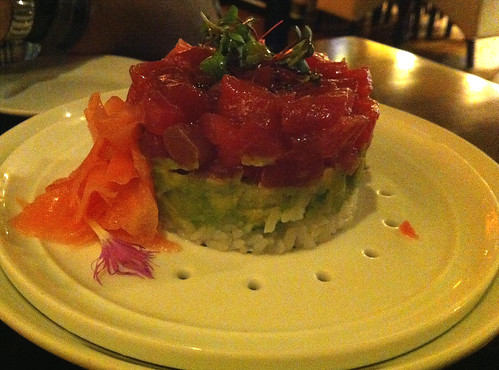 Deconstructed ahi roll