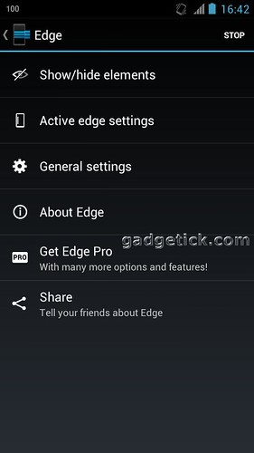 Edge: Quick Actions для Android