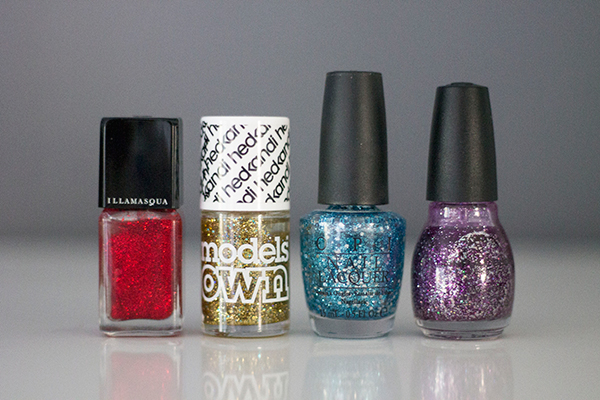 Firework Inspired Nail Polish. Models Own, Illamasqua, Sinful Colors and OPI