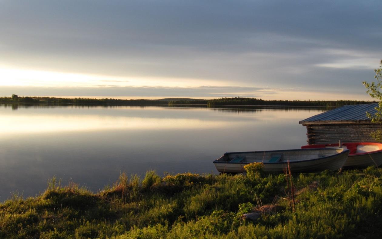7. Uno de los típicos lagos de Laponia, en Finlandia. Autor, RukaKuusamo