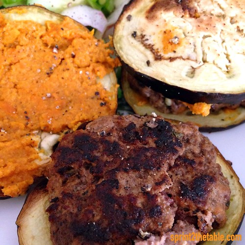 curry sweet potato burger