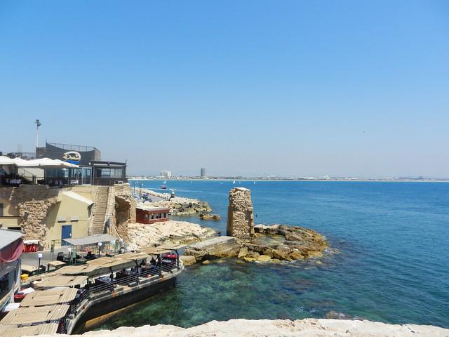 Акко. Вид на бухту в порту