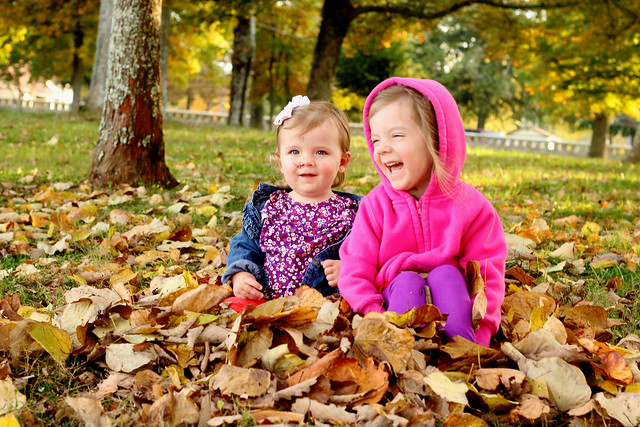 Girls in Leaves