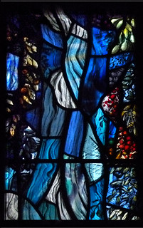 "Detail, from ""Baptism of Christ"" window, St Joseph's Church, Wroughton, nr Swindon"