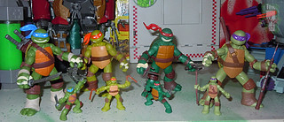 Nickelodeon TEENAGE MUTANT NINJA TURTLES :: MINI TURTLE FIGURE 4-PACK xviii // .. with Nick TMNT BasicTurtles  (( 2014 ))