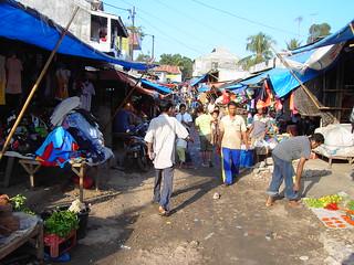 Kupang. Shoppers in Kupang market West Timor Indonesia