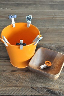 Halloween clothespin on pail
