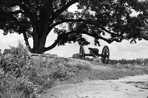 New Yorker Cannon on High Ground, Gettysburg, Pennsylvania USA