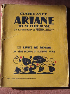 "Book of my library: ""Ariane"" by Claude Anet - Paris 1928"