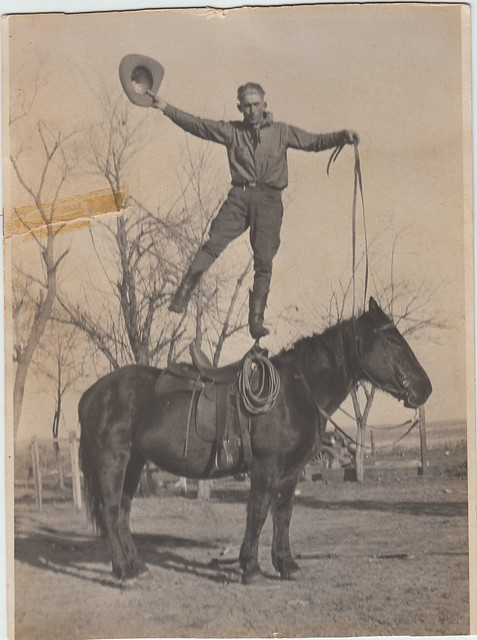 grandpa on horse