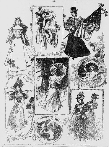"""American Girl"" & Thanksgiving (article illustration)- 1897"