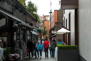 Petite ruelle dans le quartier de Knightsbridge