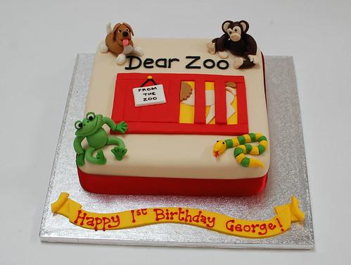 Superb Dear Zoo Cake Beautiful Birthday Cakes Funny Birthday Cards Online Amentibdeldamsfinfo