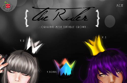 The ruler Tintable original mesh crown @ J&A