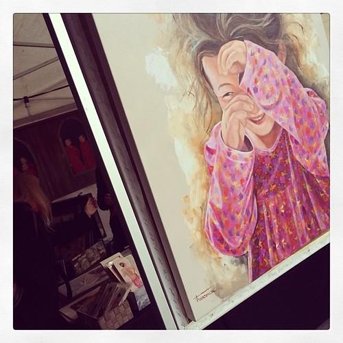 Pintura al Óleo de #francescaescobar #mercatmedievaldevic #firamedieval #vic