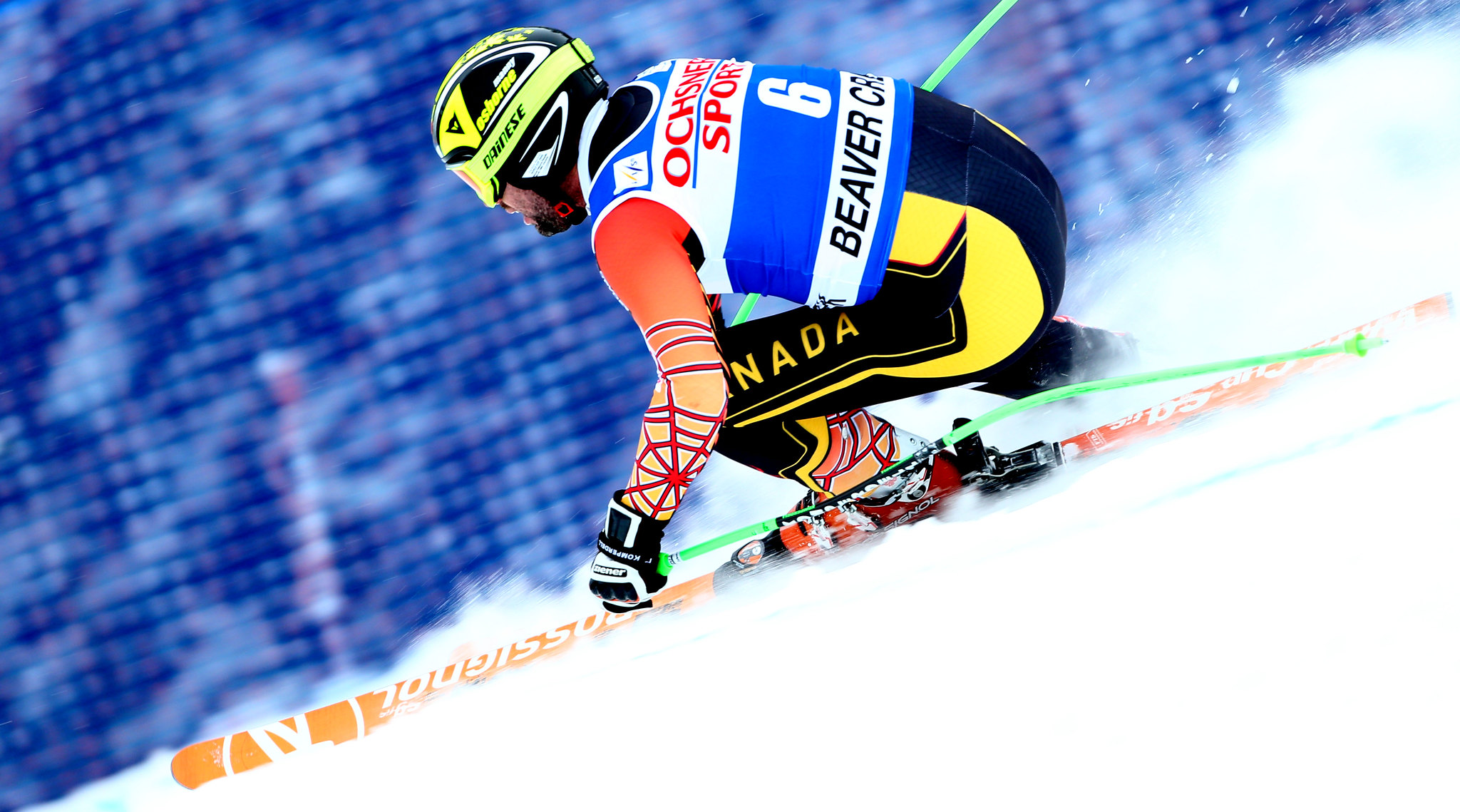 Manny competes in the super-G at the FIS Alpine World Cup in Beaver Creek, USA