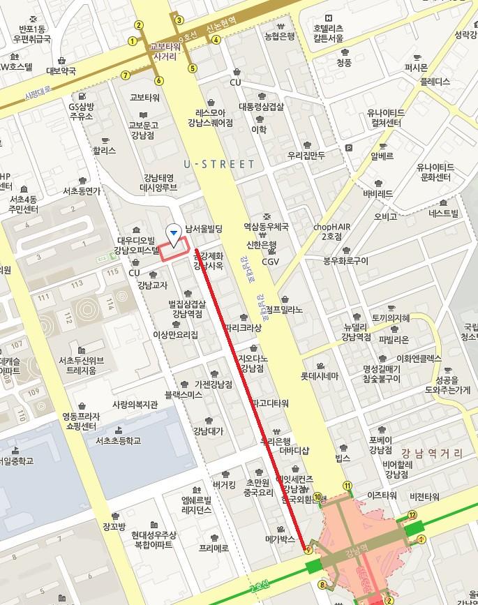 Location Gangnam Chin Chai Jiak