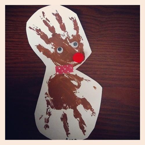 Handprint roudolph