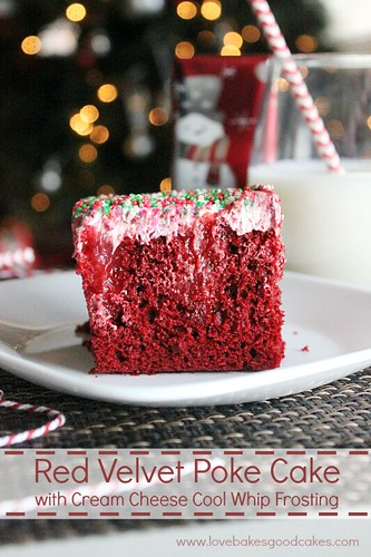 Red Velvet Poke Cake with Cream Cheese Cool Whip Frosting 3