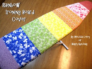 Rainbow Ironing Board Cover Tutorial
