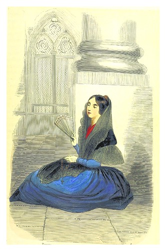 010-Joven en la iglesia-La Spagna, opera storica, artistica, pittoresca e monumentale..1850-51- British Library
