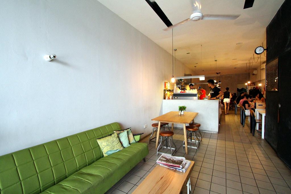 朴素的咖啡厅内部
