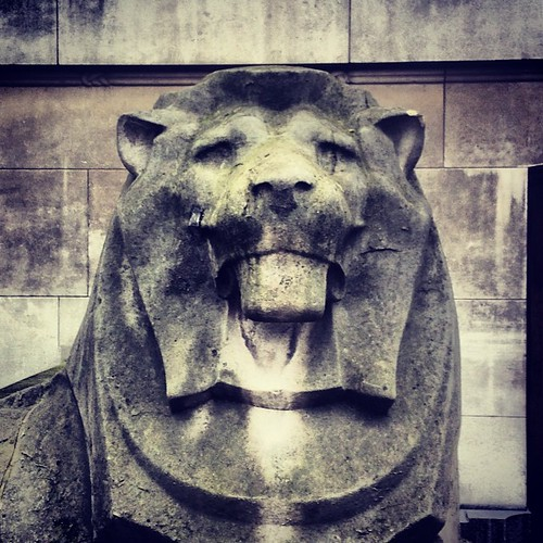 LCC Lion Tour #urban #lions #instagram #iphone5c #london #lcc #british #stone