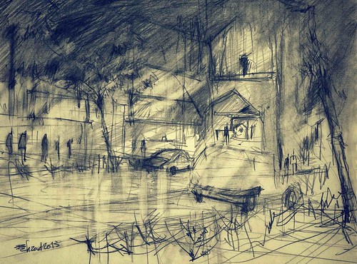 Midnight in Isfahan by Behzad Bagheri Sketches