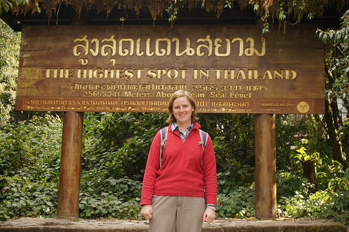 Annemarie at the top of Doi Inthanon