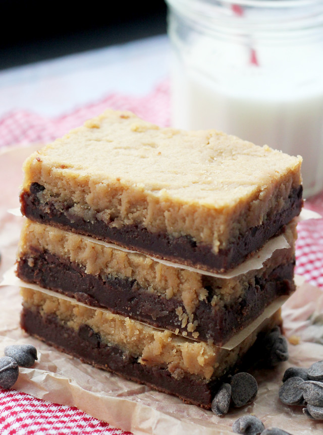 Peanut Butter Cheesecake Brownie Bars | Joanne Eats Well With Others