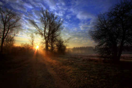 sun sunrise canon landscape day cloudy rays drohiczyn cesarz marcelxyz