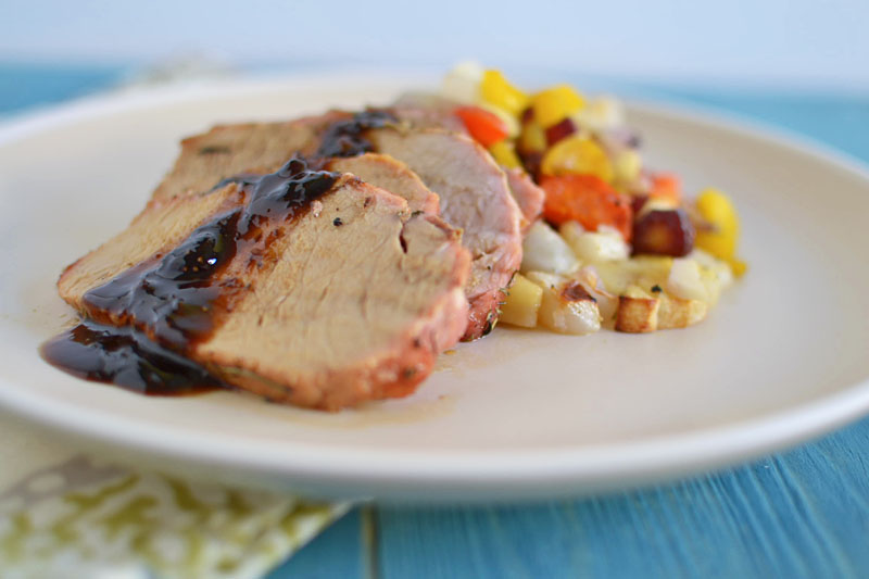 Herb Roasted Pork with Root Vegetables via LittleFerraroKitchen.com