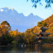 Jade Dragon Snow Mountain View from Black Dragon Pool in Lijiang , Yunnan , China by icEzZPhotography