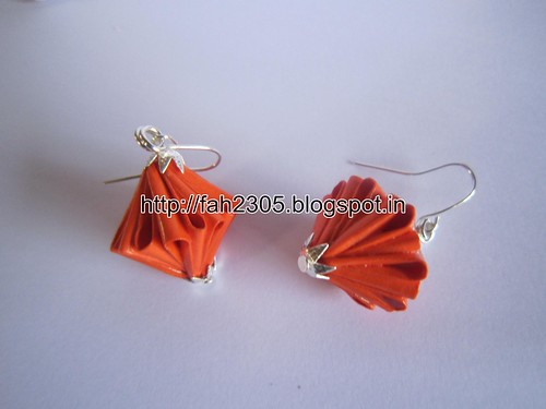 Handmade Jewelry - Origam Unit Diamond Paper Earrings (10) by fah2305