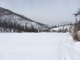 Approaching Cub Lake