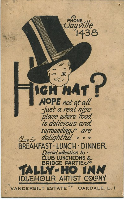 Tally-Ho Inn Ad