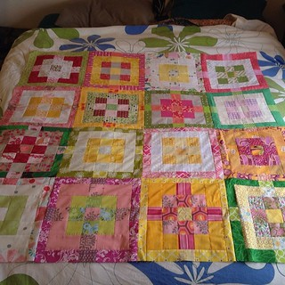 Bad photo, cute quilt top. #dogoodstitches #bliss