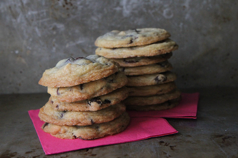 Dark Chocolate, Sour Cherry and Marcona Almond Cookies