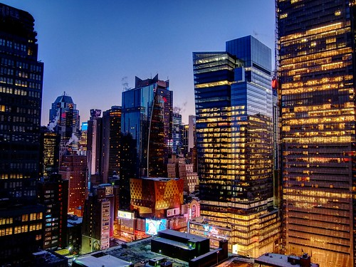 HDR of Times Square As Seen From West 40th St.