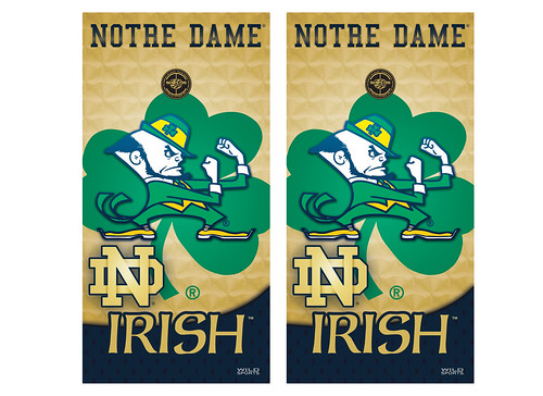 Notre Dame Cornhole Game Decal Set