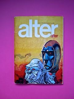 Alter Alter, marzo 1979, anno 6, numero 3. Direzione: Oreste del Buono, art director: Fulvia Serra. Copertina (part.), 1
