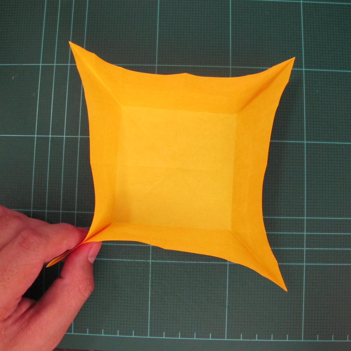 สอนวิธีพับกระดาษเป็นดอกกุหลาบ (แบบฐานกังหัน) (Origami Rose - Evi Binzinger) 005