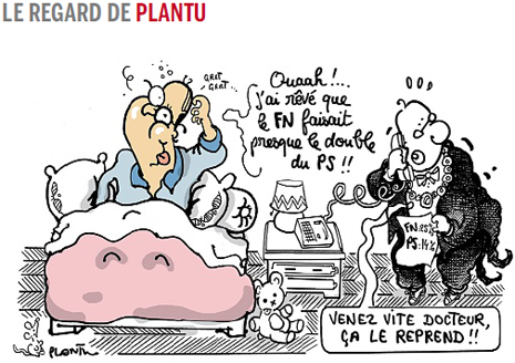 14e27 Plantu Le Monde Hollande y el triunfo histórico del FN
