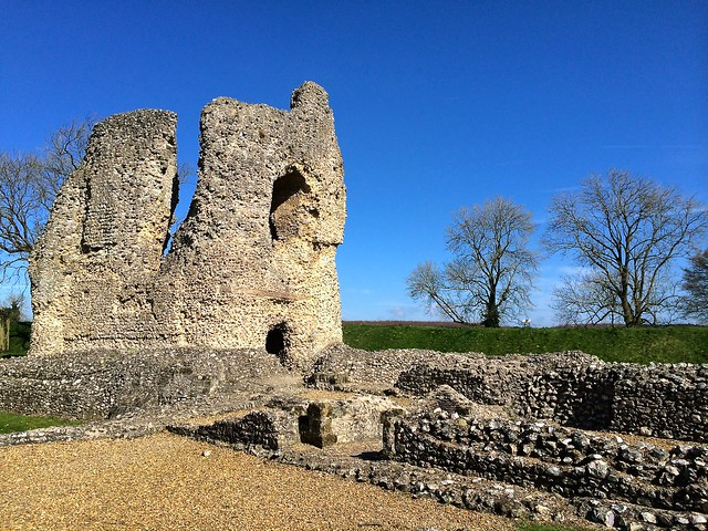 Ludgershall Castle Ruins, Wiltshire, England, April 2014