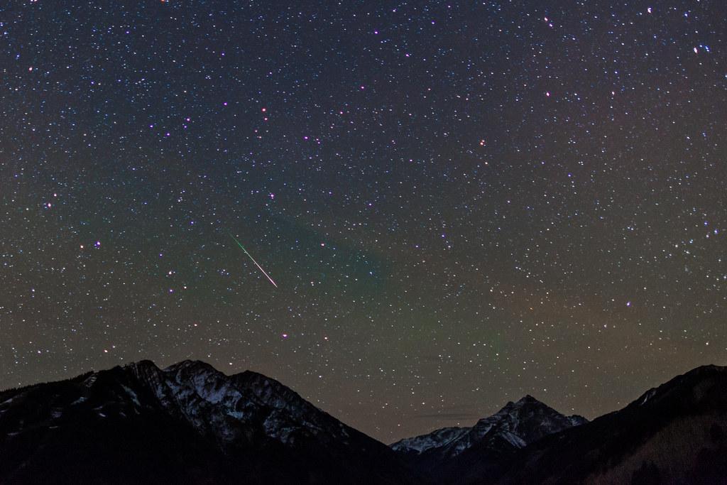 Meteor over Aspen Highlands