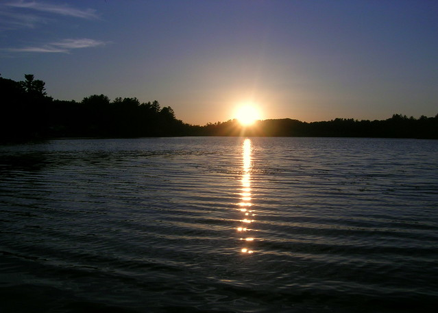 Sunset at Pond Jun 2013